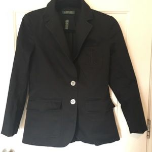 🛍Lauren Ralph Lauren Jacket Blazer Custom Black
